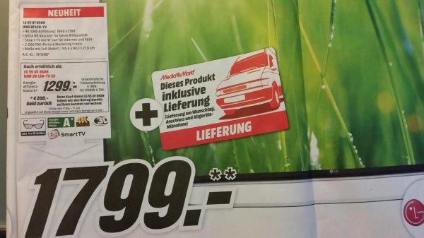[Mediamarkt Hamburg] LG 55 UF 8509 für 1299€, LG 65 UF 8509 für 1799