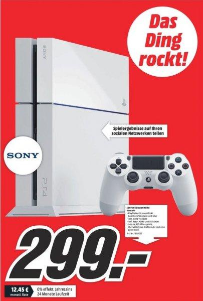 [Lokal Mediamarkt Münster] Sony Playstation 4,500GB,Weiß für 299,-€.Ab Freitag