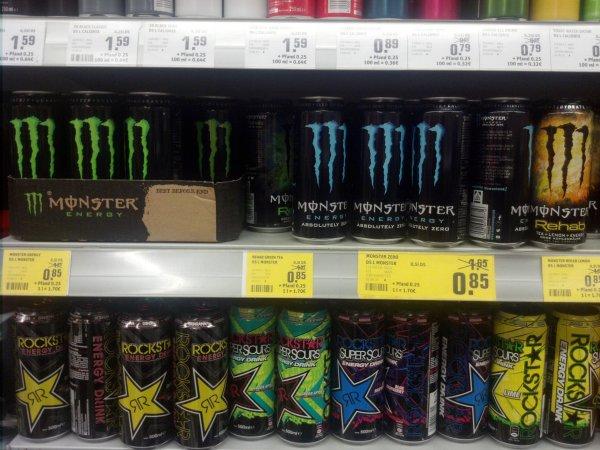 """Monster Energy 0,85 Eur plus Pfand (Rewe Bundesweit """"Sensationspreis der Woche"""")"""