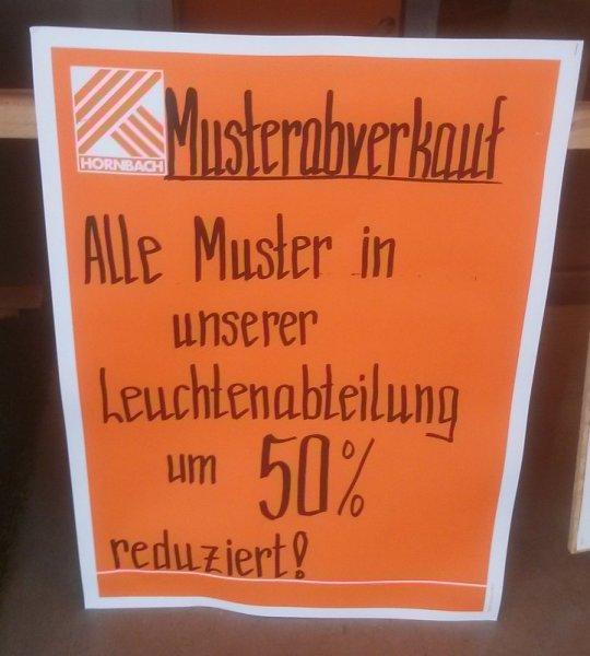 [Lokal] - Hornbach Kiel - 50% Rabatt auf Musterleuchten
