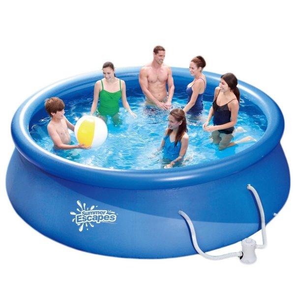 Summer Escapes Fast Set Pool 366x91cm Swimming Pool Schwimmbad mit Filterpumpe @ebay