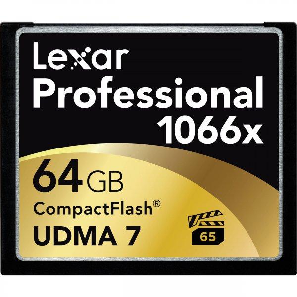 Fast 45% Amazon.com  2 x Lexar 64GB 1066x Professional CF Memory Card Speicherkarte Compact Flash Statt 212 Euro nur 122 Euro (!!!)