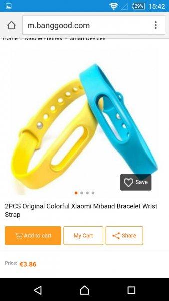 CN-BANGGOOD 2 Original Xiaomi Ersatzbänder für Mi-Band
