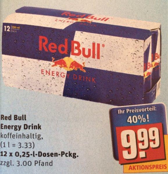 Rewe - Red Bull - 12er für 9.99 EUR - Einzelpreis 83 Cent
