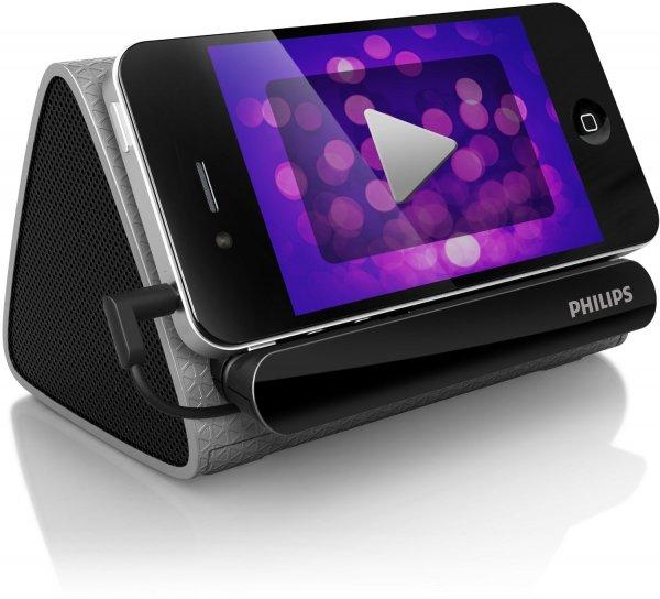 [AMAZON] Philips SBA1710/00 tragbarer Stereo Lautsprecher für´s Smartphone