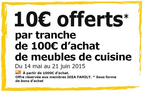 10% auf Küchen im Ikea (Frankreich)