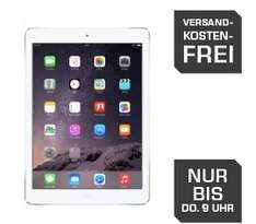 Saturn Late Night Shopping nur bis 09:00 Uhr. APPLE iPad Air Wifi 16GB in spacegrau oder silber 329€