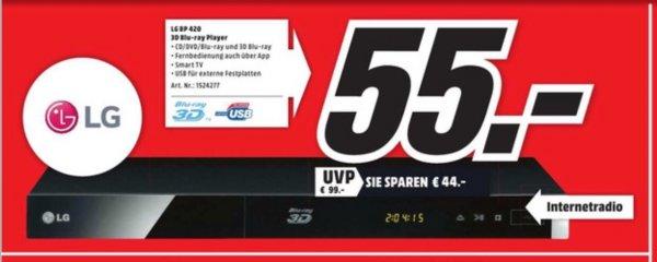[MM Essen] 3D Blurayplayer LG BP 420 für 55€/3D Blurays 11,99€ z.B. Rio/Monster Uni/Ice Age/Titanic