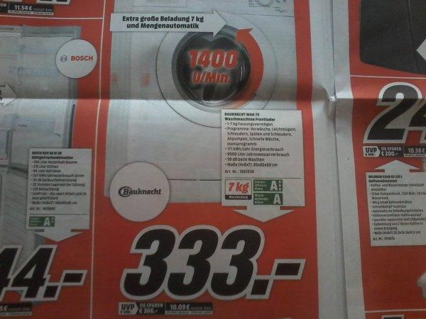 Bauknecht WAK 73 Waschmaschine  Media Markt  (333€)