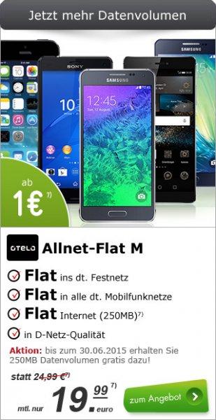 Otelo Allnet Flat M Aktion Allnet Flat / 500 MB bei 21,6 Mbit/s UMTS für 19,99 € / Monat + Apple iPhone 5S space gray 16GB (B-Ware) für 29 € Zuzahlung (weitere Smartphones zur Auswahl)