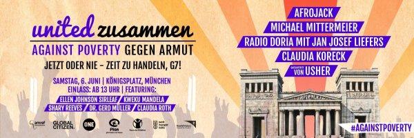 """[lokal München] Kostenlos zu """"Zusammen gegen Armut"""" (Auftritte von Michael Mittermeier, Afrojack, Usher uvm)"""