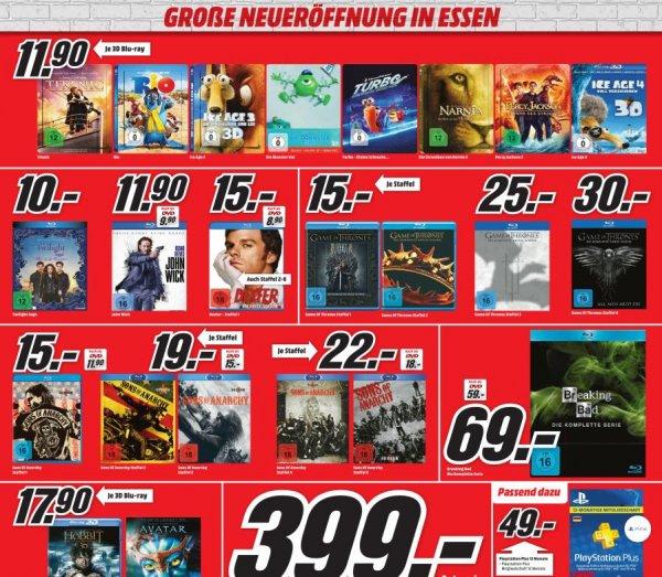 Mediamarkt Essen Neueröffnung - ein paar nette Angebote PS4, Blu- Ray usw.