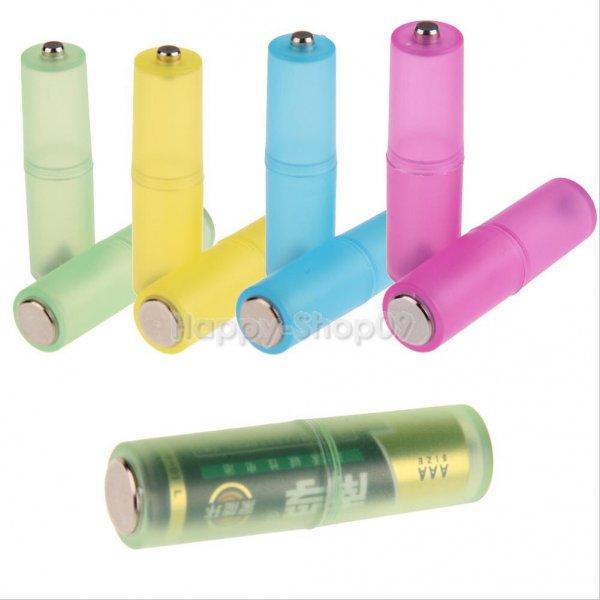 (Ebay) 4er Pack AAA zu AA Batterie Konverter in verschiedenen Farben für je 1,08 EUR