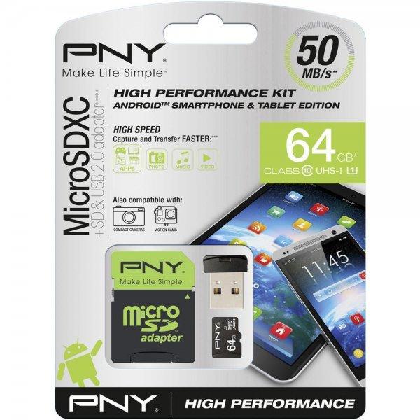 PNY microSDXC High Performance 64GB Class 10 UHS-I mit SD-Adapter, und USB-Kartenleser + SwissOne Gesichtsschutz FIGHT inkl. Vsk für 19,84 € > [conrad.de]