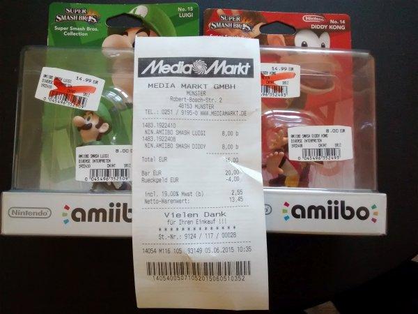 [lokal Media Markt Münster] Luigi und Diddy Kong Amiibo für jeweils 8€