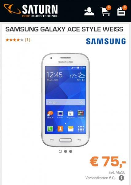 Samsung Galaxy Ace Style 70,-€ bei saturn.de