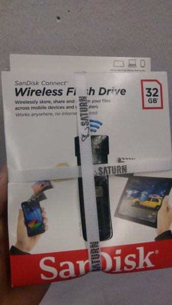 [Lokal Saturn Krefeld] SanDisk Connect Wireless Flash-Laufwerk 32 GB WLAN USB Stick 19,97€
