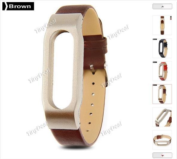 [Tinydeal] Lederband MiBand (Leather Bracelet) 7,59€ inkl. Versand