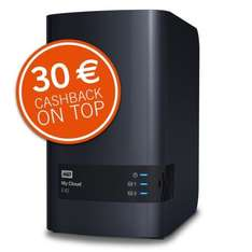 [Ebay Cyberport] WD My Cloud EX2 NAS mit 2x 2TB WD Red für 259€ - 30€ Cashback = 229€