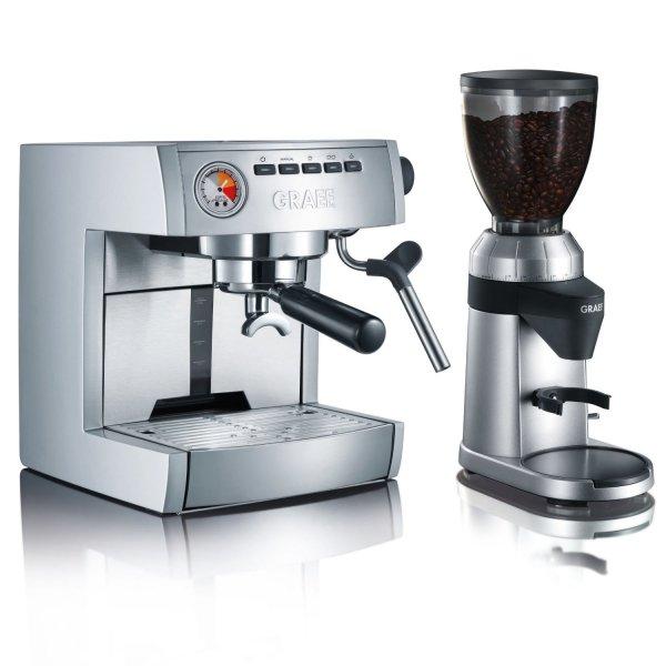 [Amazon.de]: Graef Profi Set Plus (ES85+CM800) Siebträger-Espressomaschine + Kaffeemühle für 349,00€ inkl. Versand