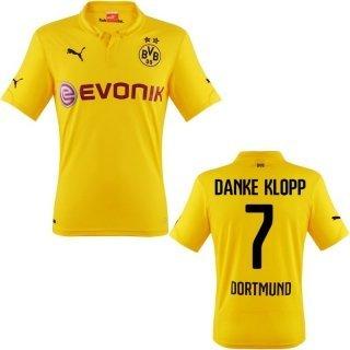 Danke Klopp BVB Borussia Dortmund 2015 Trikot (alle Größen !!!) für 19,95 € oder ohne Flock in fast allen Größen zum gleichen Preis (Link Text) @ Amazon