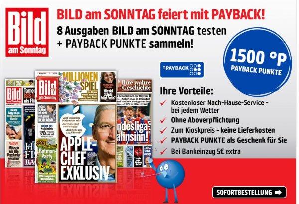 8 Ausgaben BAMS für 14,80€ inkl. 1.500 Payback Punkte, bei Bankeinzug zusätzlich 5,00€ sparen