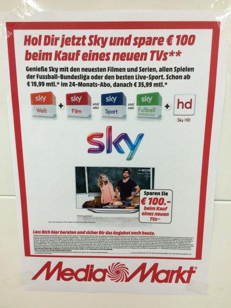 [Lokal? MM Mühldorf] Sky Welt + 1 Premium Paket - 100€ Preisnachlass ab 19,99€