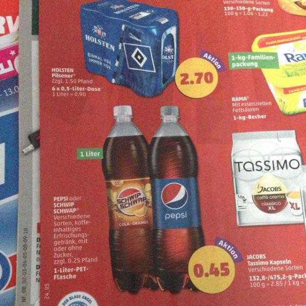 [Penny] (12.06-13.06 Fr/Sa) Pepsi und schwip schwap für 45 Cent