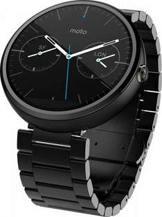 Motorola Moto 360 Metal Edition Dark-Finish Smartwatch (Metal Band, 23 mm) @ Amazon WHD