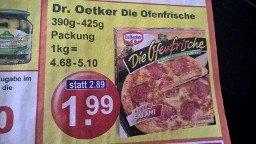 [K+K] Dr. Oetker - Die Ofenfrische für 1,49 € (mit Coupon)