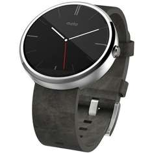[Amazon-WHD]Motorola Moto 360 Smartwatch ab 140€ - helles Edelstahlgehäuse mit grauem Echtlederarmband