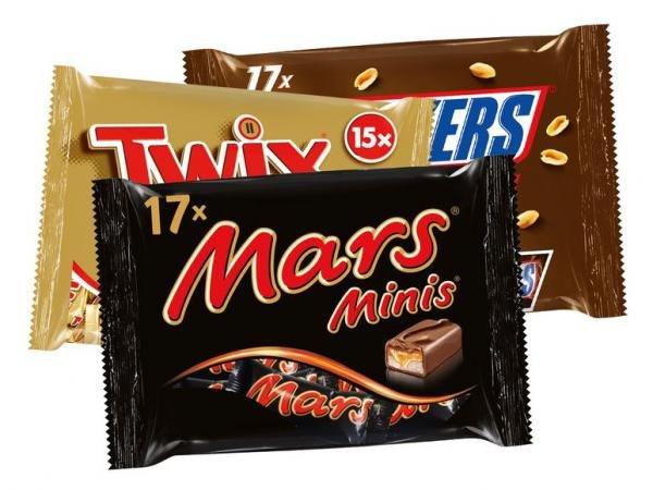 [LIDL bundesweit] KW24 Snickers, Twix, Milky Way, Mars oder Bounty Minis für 1,99 € (Angebot) [13.06.2015]