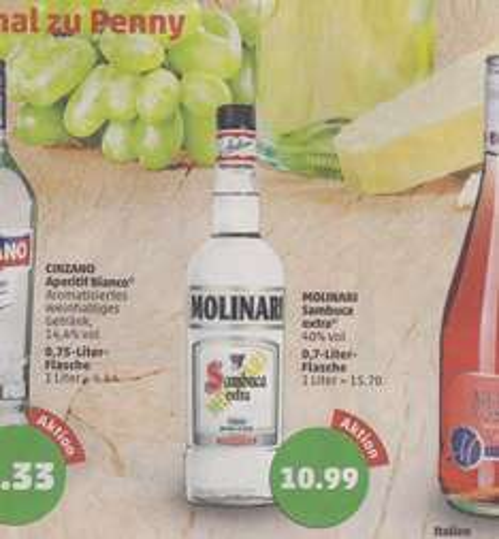 Molinari Sambuca bei Penny für 10,99 €