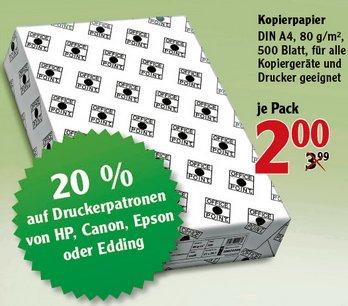 [GLOBUS MAINTAL] 500 Blatt 80g/m² Kopierpapier für 2,00€