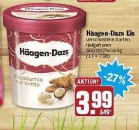 [Lokal Aachen] Häagen-Dazs Eis verschieden Sorten 3,99€ - Mit Coupies 2,49€