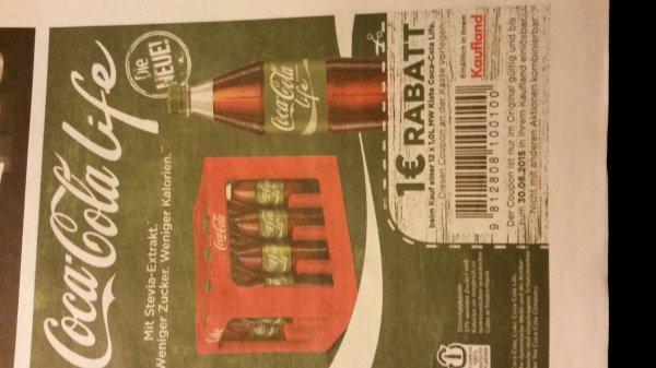 Kaufland Kiste Coca-Cola Life durch Rabattcoupon für 6,44€ Literpreis = 0,536 €