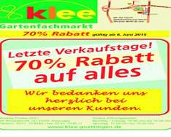 [Lokal Klee Göttingen] 70% Rabatt auf Alles !