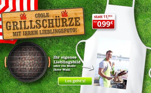 (myprinting) BBQ Grillschürze mit eigenem Foto für nur 0,99 EUR (plus 4,99 EUR Versand)