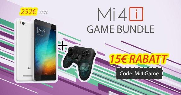 Xiaomi Bundle Mi4i + Mi GamePad inkl. DHL Express Versand, deutscher Support @tradingshenzhen