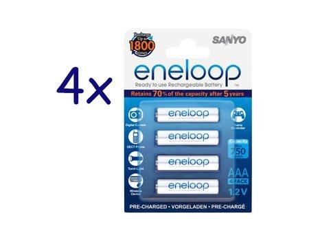 [Allyouneed] 16x Sanyo Eneloop Akku NiMH Micro AAA 800mAh HR4-UTGB für 20,49€