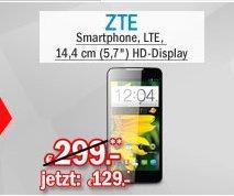 [Redcoon Hot Deal] ZTE Grand Memo Smartphone (14,4 cm (5,7 Zoll) HD-Display, 1,5GHz, Quad-Core, 16GB Speicher, 13 Megapixel Kamera, LTE,schwarz für 129,-€ Versandkostenfrei