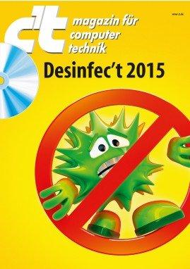 Desinfec't 2015 - Schad-Software auf PCs zuverlässig aufspüren & entfernen - ab 13.6. im Handel 4,50€