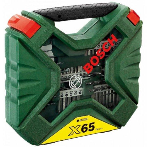 Bosch X-line 65tlg. Universal-Bohrersortiment (16 Bohrer, 38 Bits, Bithalter, Steckschlüsselsatz 8tlg, Messband) kostenloser Versand für 14,99€ [Conrad.de]