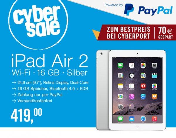 Ipad Air 2 für 419€ bei Cyberport @ Cybersale