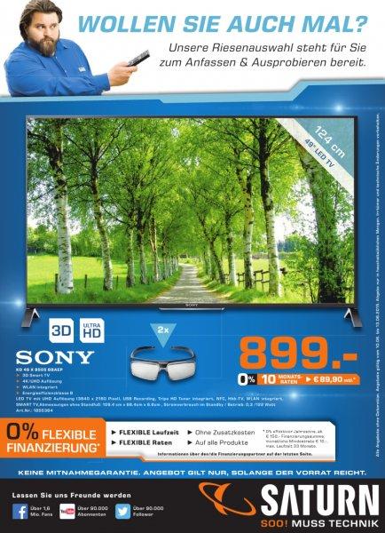 Sony KD 49 X 8505 BBAEP 3d smart TV 4k/UHD @ Saturn Ludwigsburg für 899€
