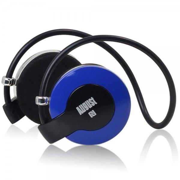 August EP615 Bluetooth v4.0 NFC Kopfhörer - Wireless Stereo Headset mit Freisprechfunktion, integriertem Mikrofon und Akku - Kompatibel mit Handys, iPhone, iPad, Laptops, Tablets, Smartphones etc.