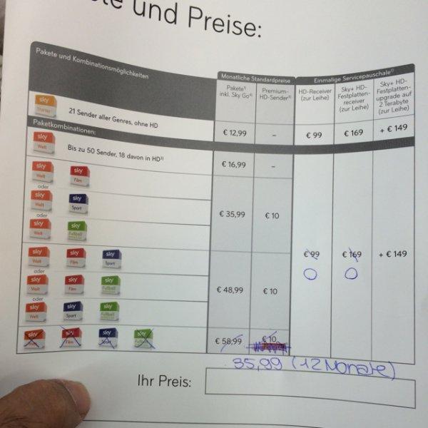 [Lokal] Kaufland Lengerich/ Westf. Sky komplett Paket für rechnerisch 40,07€/ Monat