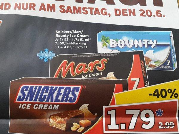 Snickers/Mars/Bounty Ice für 1,79€ am Lidl Super Samstag (20.06.)