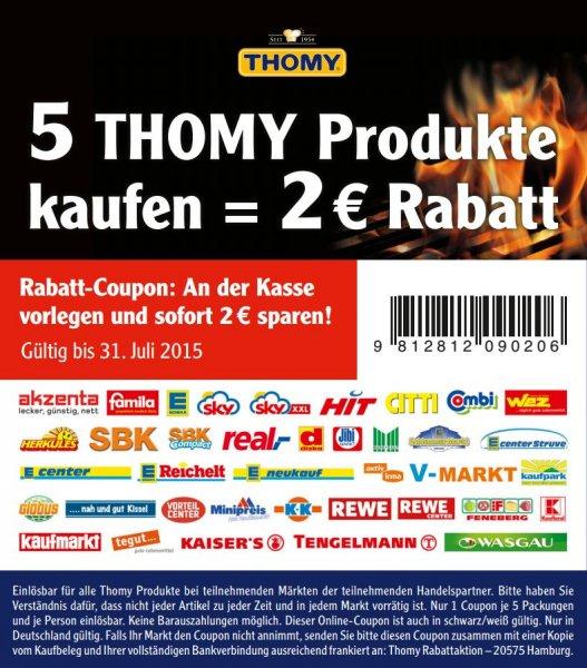 KAUFLAND bundesweit KW 25 Thomy les Sauces (verschiedene sorten) für 0,54 bezw 0,48 cent pro packung (angebotspreis/coupon)
