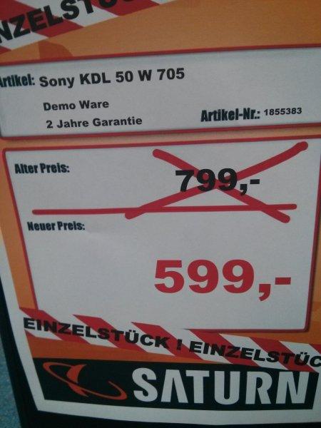 [Lokal Saturn München OEZ] Sony KDL 50 W 705 Fernseher